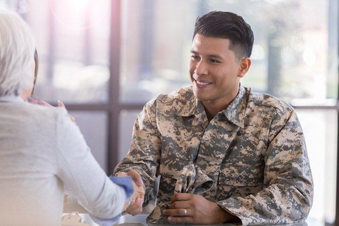 veteran in meeting