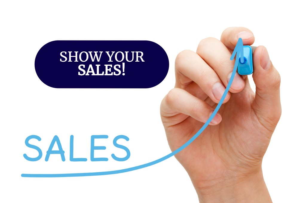 Show Your Sales!